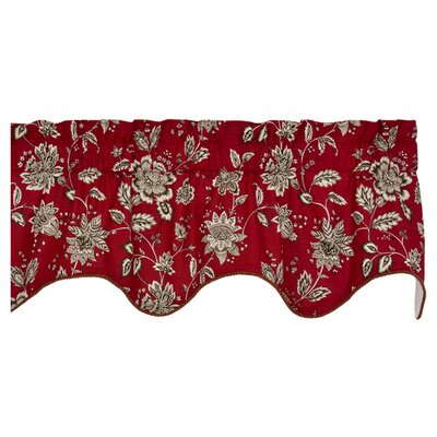 Lima Lined Duchess Filler 50 Curtain Valance Color: Red