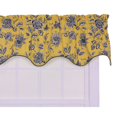 Lima Lined Duchess Filler 50 Curtain Valance Color: Yellow