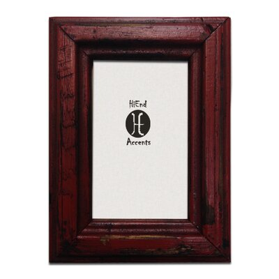 Painted Distressed Wood 8 x 10 Picture Frame (Set of 2) Color: Red