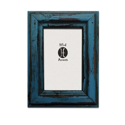 Painted Distressed Wood 8 x 10 Picture Frame (Set of 2) Color: Turquoise