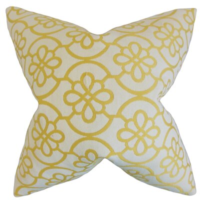 Throw Pillow Color: Banana, Size: 18 x 18