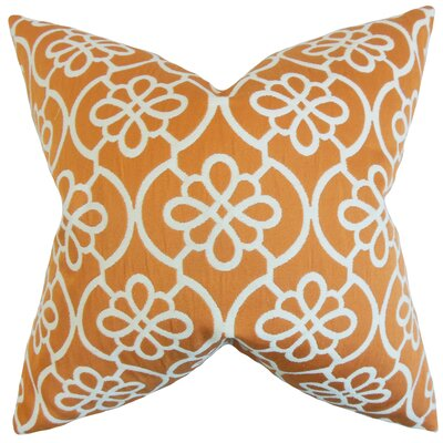 Synthetic Throw Pillow Color: Orange, Size: 18 x 18