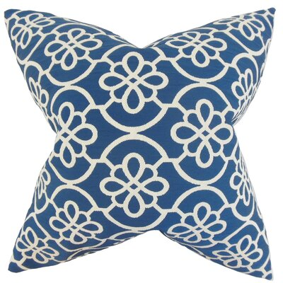 Throw Pillow Color: Blue, Size: 18 x 18