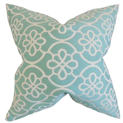 Synthetic Throw Pillow Color: Caribbean Blue, Size: 18 x 18