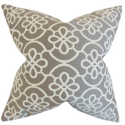 Synthetic Throw Pillow Color: Grey, Size: 22 x 22