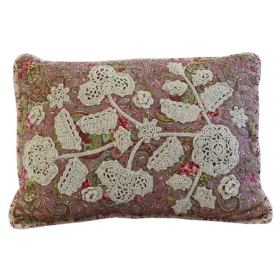 Colette Crochet Cotton Throw Pillow
