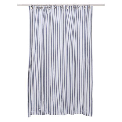 Cotton Shower Curtain Color: Navy