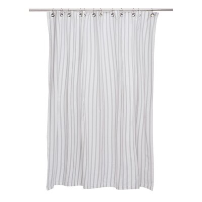 Cotton Shower Curtain Color: Grey