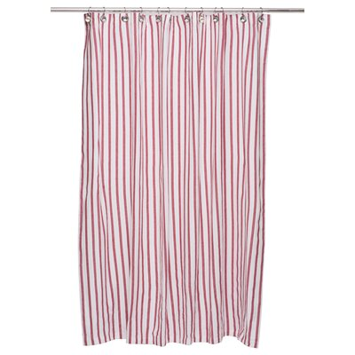 Cotton Shower Curtain Color: Red