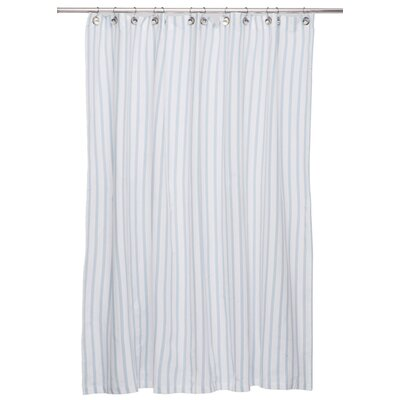 Cotton Shower Curtain Color: Light Blue