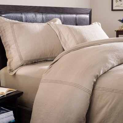 Skye 3 Piece Duvet Set Size: Queen, Color: Prairie Ground with Prairie Embroidery