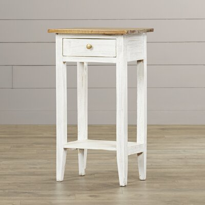 Cusseta Avignon End Table Finish: White