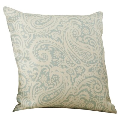 Francisca Paisley Linen Throw Pillow Color: Aqua, Size: 18x18