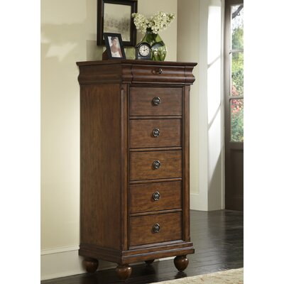 Pinesdale 5 Drawer Lingerie Chest Finish: Rustic Cherry