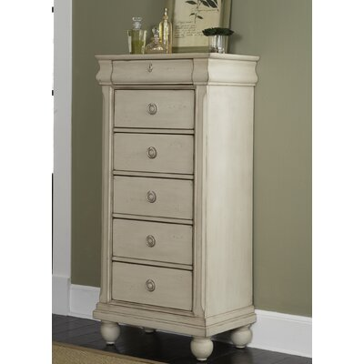 Pinesdale 5 Drawer Lingerie Chest Finish: Rustic White