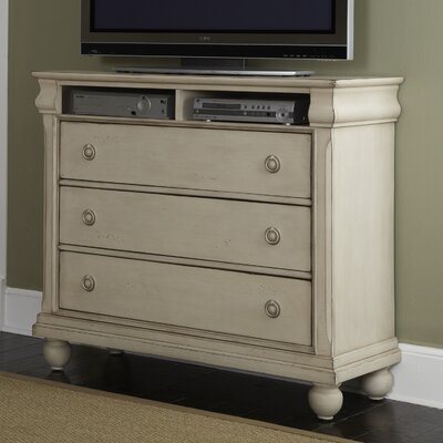 Pinesdale 3 Drawer Media Chest Finish: Rustic White