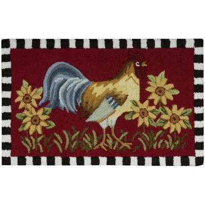 Stella Red/Yellow Area Rug Rug Size: 18 x 29