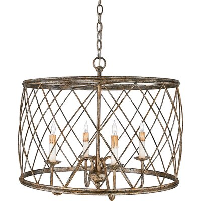 Ryne 4-Light Drum Pendant Size: 20 H