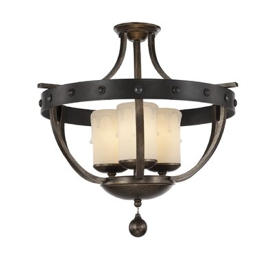 Betty-Jo 3-Light Semi-Flush Mount