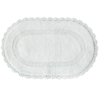 White Bird Bath Mat Color: White