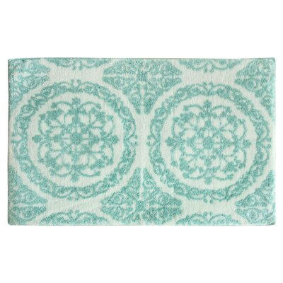 Ornamental Hand Tufted Bath Mat Color: Pastel