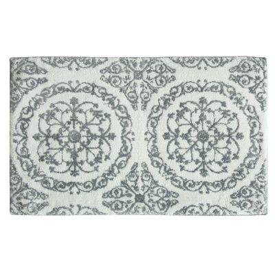 Ornamental Hand Tufted Bath Mat Color: Frost Gray