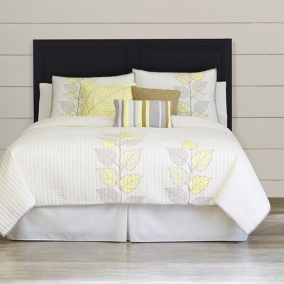 6 Piece Coverlet Set Size: Queen, Color: Yellow