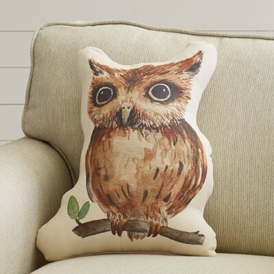 Dehlia Owl Plush Throw Pillow