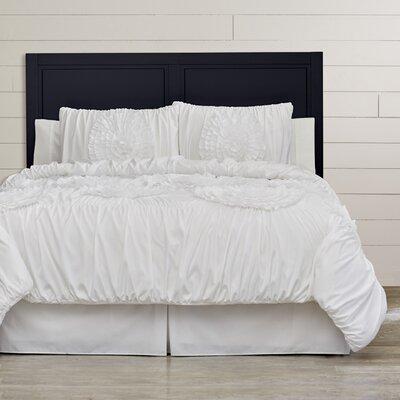 Elmira 3 Piece Comforter Set Color: White, Size: Queen