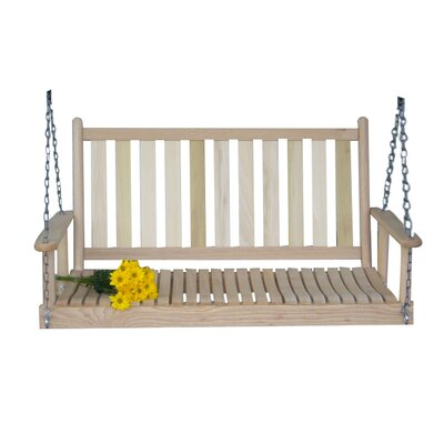 Hanging Porch Swing with Chain Finish: Unfinished