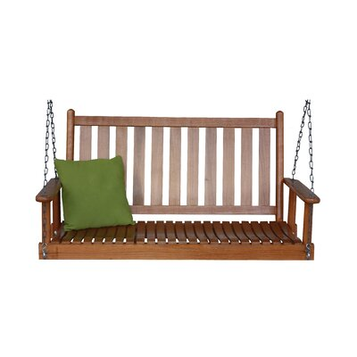 Hanging Porch Swing with Chain Finish: Medium Oak