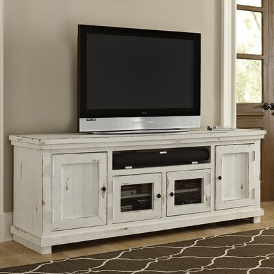Willow 74 TV Stand Color: Distressed White