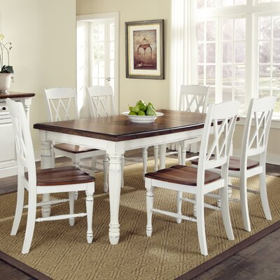 Shyanne 7 Piece Dining Set Finish: Cream
