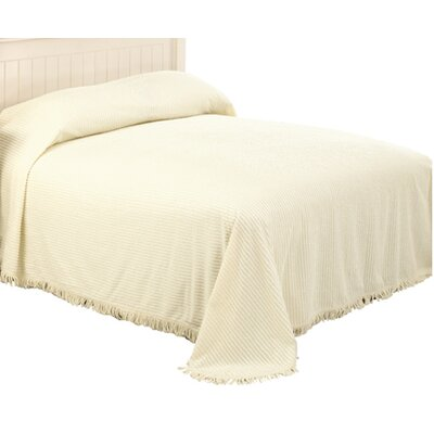 Paula Striped Quilt Size: Full, Color: Ivory