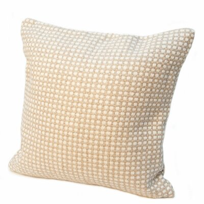 Protege Grid Linen Throw Pillow Color: Sprout Green, Size: 24 x 24