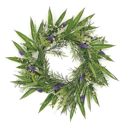 24 Grape Hyacinth and Fennel Leaf Wreath