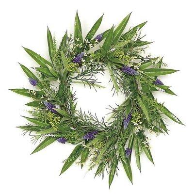 24 Grape Hyacinth and Fennel Leaf Wreath