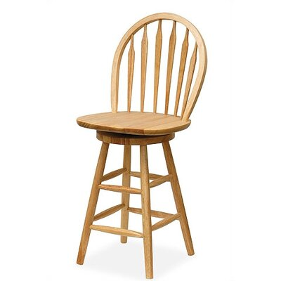 30 Swivel Bar Stool Color: Natural, Seat Height: 24 H x 18 W