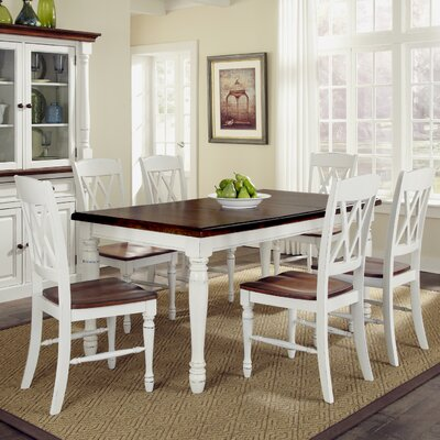 Giulia 7 Piece Wood Base Dining Set