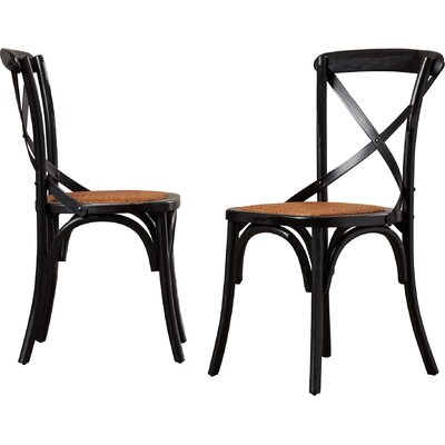 Essie Upholstered Dining Chair Color: Antique Black
