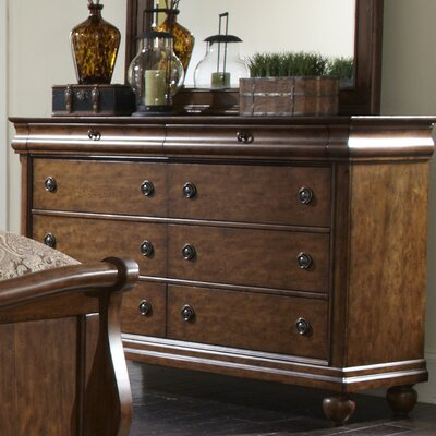 Pinesdale 8 Drawer Standard Dresser Finish: Rustic Cherry