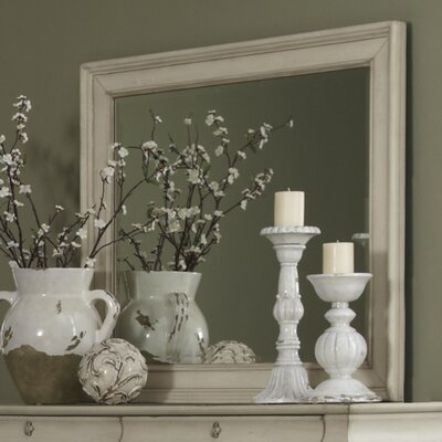 Pinesdale Rectangular Dresser Mirror Finish: Rustic White