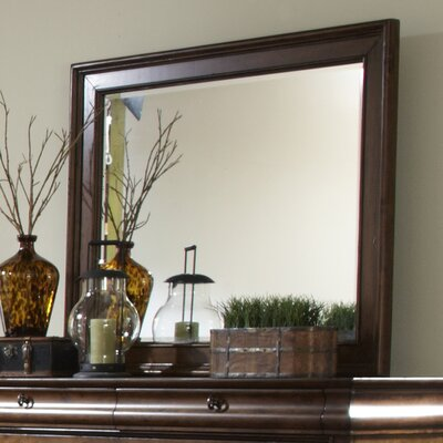 Pinesdale Rectangular Dresser Mirror Finish: Rustic Cherry