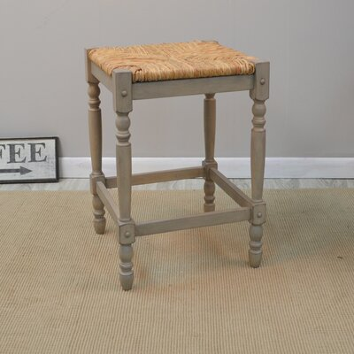 Emilia 24 inch Bar Stool Finish: Weathered Grey