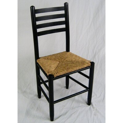Blue Ridge Ladderback Solid Wood Dining Chair Finish: Black