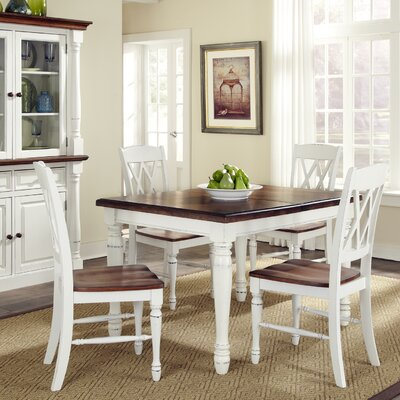 Extendable Dining Table Base Color: White