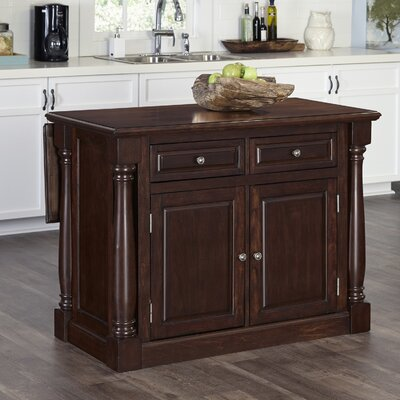 Giulia Wood Kitchen Island Top Material: Wood, Base Finish: Cherry