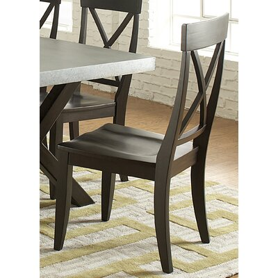 Gardner Solid Wood Dining Chair (Set of 2) Finish: Charcoal