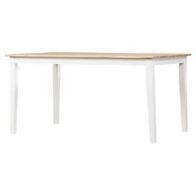 Vivien Dining Table Finish: White / Natural