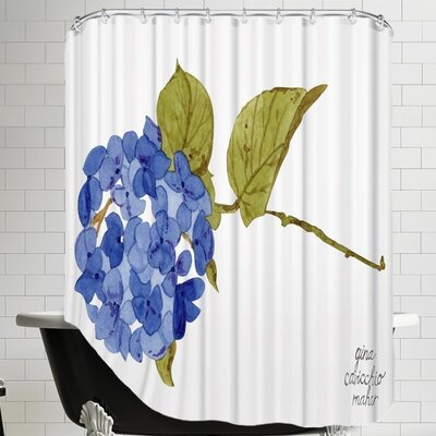 Gina Maher Floral Hydrangea Shower Curtain